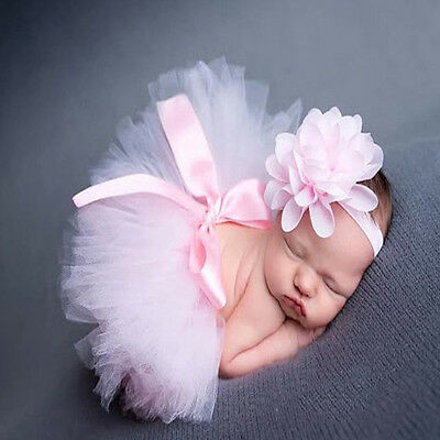 Newborn Baby Girls Skirt Tutu Clothes Knitted Crochet Photo Prop Outfits Newest