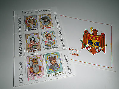 "Moldova 1993 ""princes Of Moldova"" Mnh** Booklet (Cat.5A)"