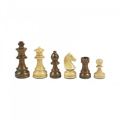 Chess figures - Staunton - brown - Kings height 84 mm - weighted