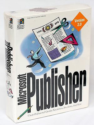 NEW & FACTORY SEALED Microsoft Publisher 2.0 for Windows 3.1