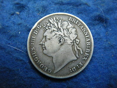 KING GEORGE IV (r 1820-1830): 1824 SILVER SHILLING - SCARCE COIN!