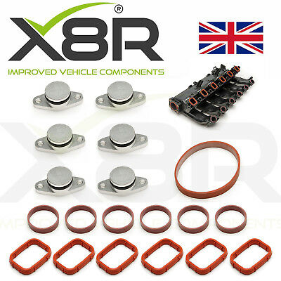 6X 22Mm For Bmw Diesel Swirl Flap Blanks Blank Repair Kit With Manifold Gaskets
