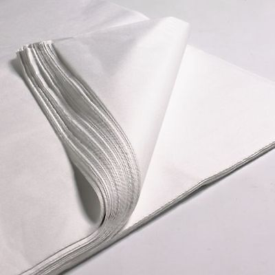 100 x  sheets  18 x 28'' WHITE ACID FREE TISSUE WRAPPING PAPER 450 X 700 mm