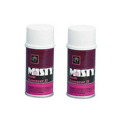 Misty Gum Remover II Aerosol Can 6oz LOT OF 2