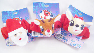 12 New Wholesale Rudolph Santa & Clarice Hair Twister Ponio's Ponytail Holders
