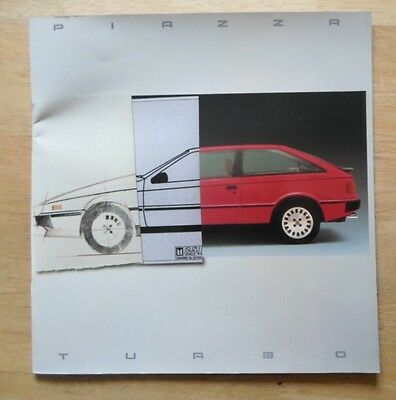 ISUZU PIAZZA TURBO orig 1985 UK Mkt Large Format Prestige Glossy Sales Brochure