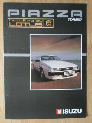 ISUZU PIAZZA TURBO orig 1988-90 UK Mkt Sales Brochure - Handling by Lotus