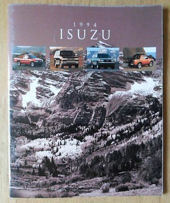ISUZU RANGE orig 1994 USA Mkt Sales Brochure - Amigo Rodeo Trooper Pick-up