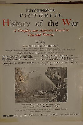 WW2 British Hutchinsons Pictorial History of the War Aug-Oct 1940 Reference Book