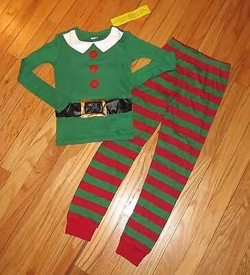 Crazy 8 Elf Pajamas Boys/Girls Christmas 12-18M, 2T, 3T, 4, 7, 8 NWT