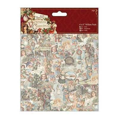 """DoCrafts Victorian Christmas 6 x 6"""" Vellum Pack 10 Sheets"""