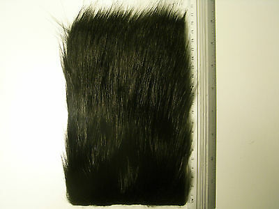 Black Fox Long Pile Craft Fur, Fly Tying Material