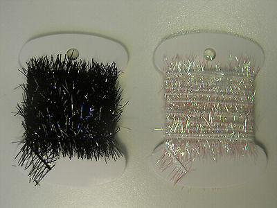 Tinsel Chenille for Fly Tying (15mm Diameter), available in Pearl and Black