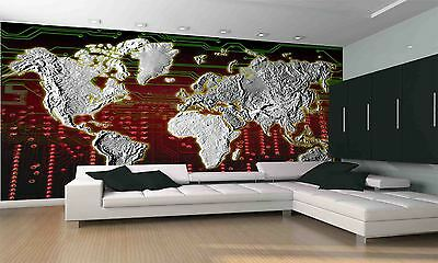 WORLD MAP I Wall Mural Photo Wallpaper GIANT DECOR Paper Poster Free Paste