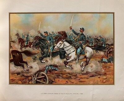 USA Civil War Battle Malvern Hill Potomac-Armee Robert E. Lee Artillery Geschütz