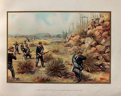 USA Army Infanterie Snake Indians Paiute Indianer Bannock Shoshone Owyhee River