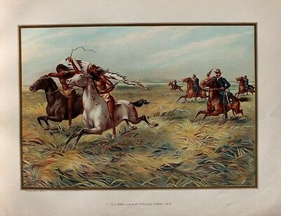 USA Kavallerie Natives Indianer Sioux Häuptling Chief Dakota Rifle Middle West
