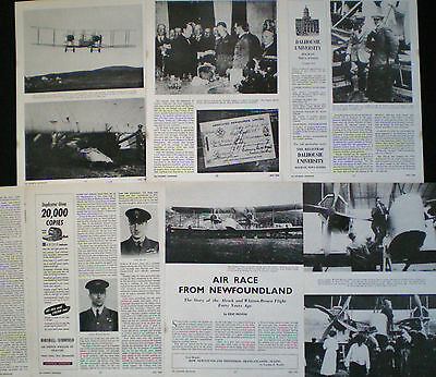 TRANSATLANTIC FLIGHT OF JOHN ALCOCK & ARTHUR BROWN 7pp PHOTO ARTICLE 1959