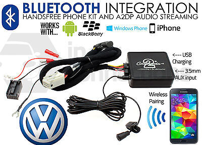 VW Golf MK5 MK6 Bluetooth streaming adapter CTAVGBT009 AUX MP3 iPhone Sony HTC