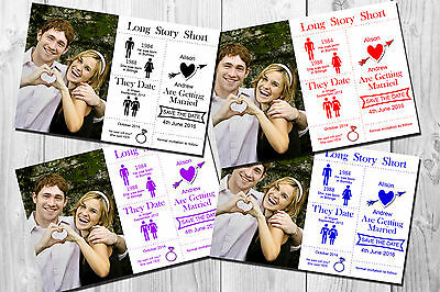 Personalised SAVE THE DATE Wedding Cards with envelopes