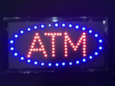 Animated LED Neon Light ATM SIGN with On/Off Motion Switch