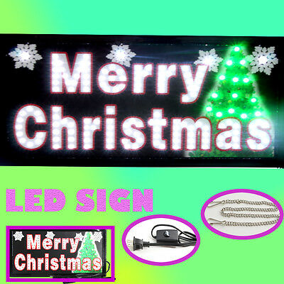 Animated LED Neon Light MERRY CHRISTMAS SIGN with On/Off Motion Switch