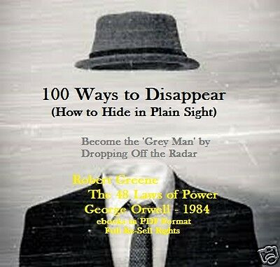 CD-100 Ways to Disappear- How to Drop Off the Radar-eBooks (Resell Rights)