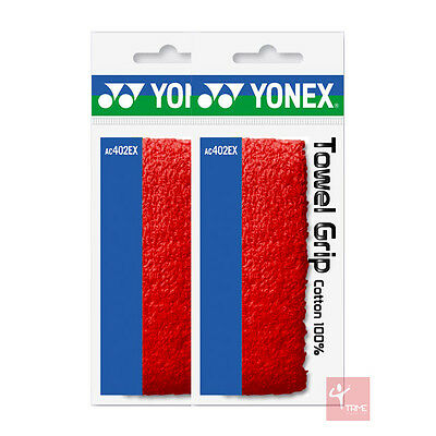 Yonex AC402EX Towel Grip - Red (2 Grips Included)
