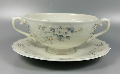 Royal Doulton Lausanne Tc1142 Cream Soup Coupe / Cup And Saucer (Perfect)