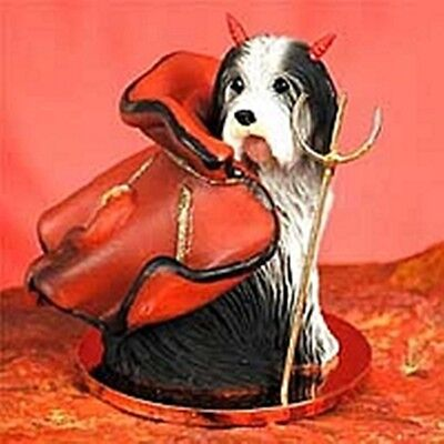 Bearded Collie Devil Dog Holiday Ornament Tiny Ones Statue Figurine NEW