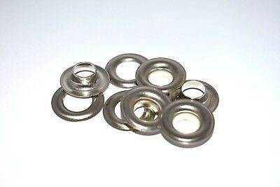 "#2 (3/8"") nickel plated solid brass self piercing grommet 100 pair"