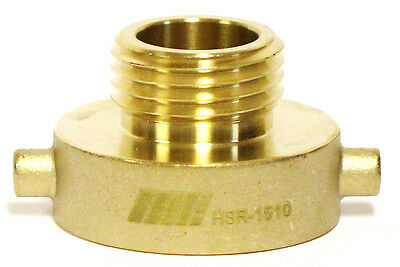 "NNI FIRE HYDRANT BRASS ADAPTER 1-1/2"" Female NST NH x 1"" NST NH Male HSR-1510"