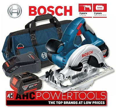 Bosch GKS18V-LI 18V Li-ion Cordless Circular Saw (2 x 4Ah Batteries) in LBag+