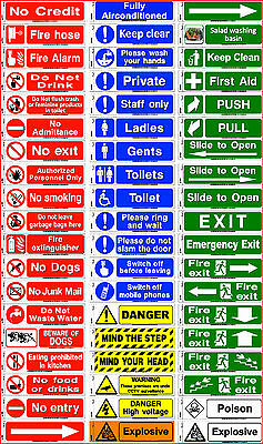 Safety Signs Health Hazard Toilet Mandatory Warning Caution Sticker Adhesive