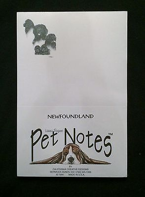 Newfoundland Notepad Paper Stationery Puppy Dog Gift White NEW Pet Notes