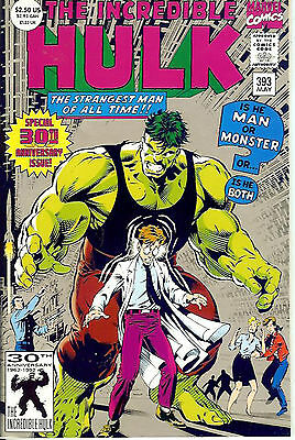 Incredible Hulk #393 (1991, vf+ 8.5) special, 64 pages, silver ink cover