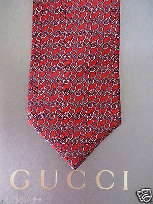 NEW TAG 100% Authentic GUCCI  GG Silk Men's  Tie .$199 Retail .. Gift bag