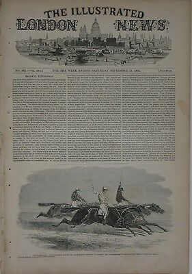 Original 1850 ILLUSTRATED LONDON NEWS Complete Issue Cheese Making Hippo Racing