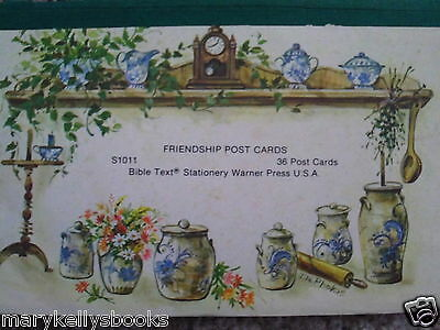 Friendship Post Cards Bible Text From 1970s Stationery Warner Press Book of 15