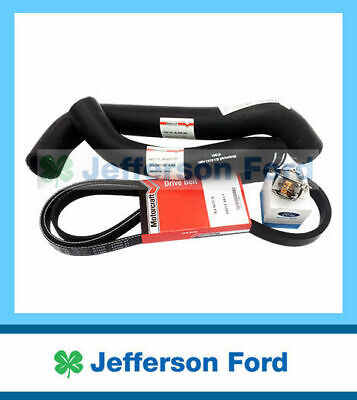New Genuine Ford Ba 6Cyl Cooling Kit Radiator Hoses Thermostat Drive Belt Xr6
