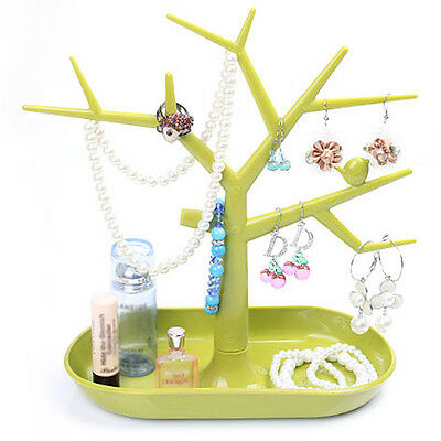 Jewelry Necklace Ring Earring Tree Stand Display Organizer Holder For Women