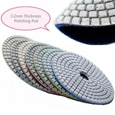 Diamond Polishing Pads 5 inch Wet/Dry 8 Piece SET Granite Marble Concrete Stone