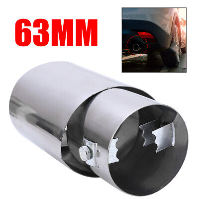 Universal 63MM Car Rear Round Stainless Steel Exhaust Muffler JDM Tail Pipe Tip