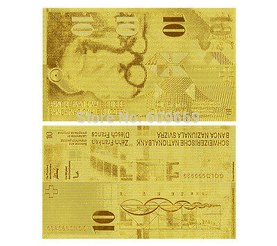 Switzerland Francs 10 Schweizer Franken Gold Replica