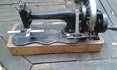 ANTIQUE SEWING MACHINE. RARE.FRISTER ROSSMANN.Fiddle Base. No cover • EUR 26,94