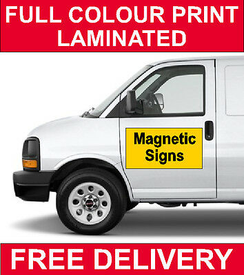 2 x Car/Van/Taxi Vehicle full colour printed magnetic signs business work