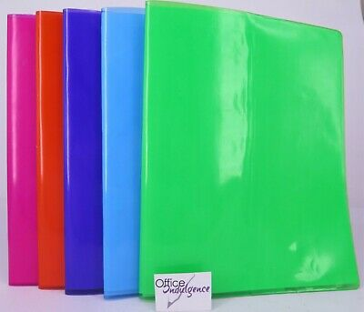 """5Pk Exercise Book Covers / Jackets Tinted PVC Reusable 9""""x7"""" Cumberland FMEBCT-5"""
