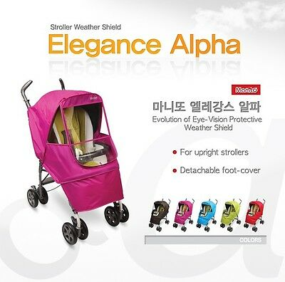 [Manito] Elegance Alpha Stroller Weather Shield / Rain Cover [Manito USA]