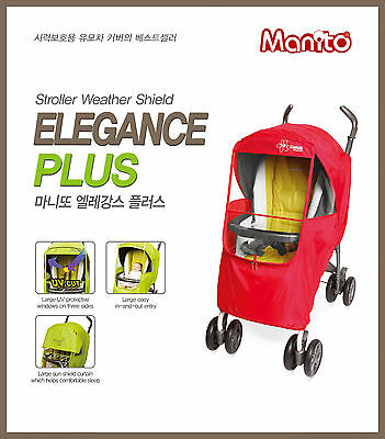 [Manito] Elegance Plus Stroller Weather Shield / Rain Cover [Manito USA]