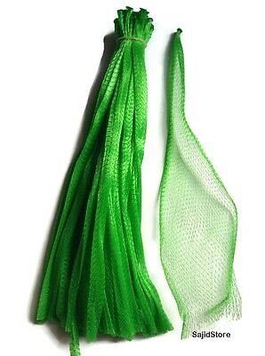 "15"" Green 25pc Reusable Nylon poly Mesh Produce net Grocery Fruit Vegetable bags"